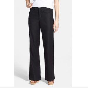 NYDJ Linen Black Trousers Lightweight Summer